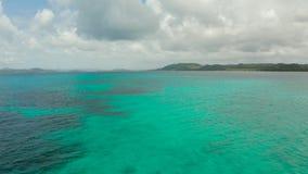 Opinião da ilha de Siargao do mar, Filipinas filme