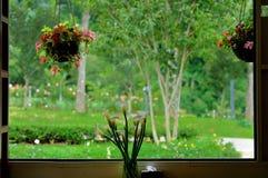 Opinião da janela Fotografia de Stock