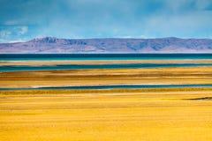 opinião da Lago-parte de Siling Co Fotografia de Stock