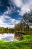 Opinião da lagoa da mola Imagem de Stock Royalty Free