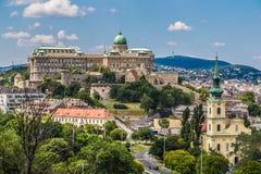 Opinião da manhã de Budapest Royal Palace. Imagem de Stock