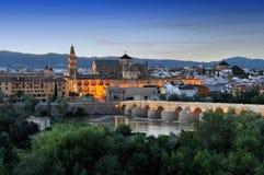 Opinião da manhã de Córdova, Espanha Foto de Stock