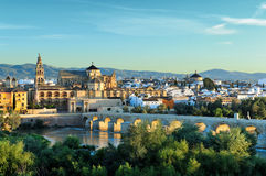 Opinião da manhã de Córdova, Espanha Fotos de Stock Royalty Free