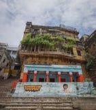 Opinião da manhã no ghat em Varanasi Fotos de Stock Royalty Free