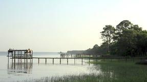 Opinião da manhã no Golfo do México imagens de stock