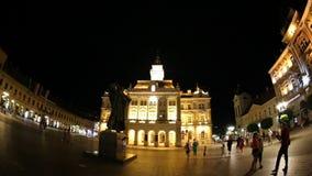 Opinião da metragem do olho de peixes Liberty Square em Novi triste, Sérvia video estoque