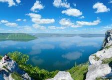 Opinião da mola de Bakota de Ucrânia ascendente fotografia de stock