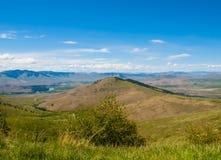 Opinião da montanha e do vale fotos de stock