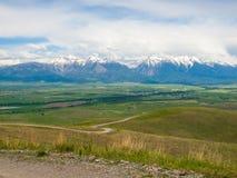 Opinião da montanha e do vale Foto de Stock