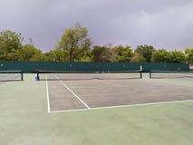 Opinião da natureza dos campos de tênis imagem fotografia de stock royalty free