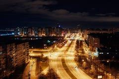 Opinião da noite Fotografia de Stock