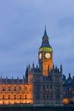 Opinião da noite Ben grande Londres Fotos de Stock