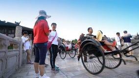 Opinião da noite da cidade antiga de Suzhou video estoque