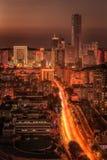 Opinião da noite da cidade de Dalian Imagens de Stock Royalty Free