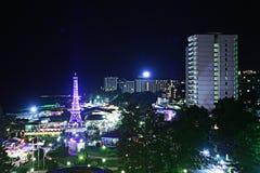 Opinião da noite da cidade Imagem de Stock
