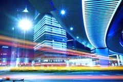 Opinião da noite da cidade de Shanghai Fotos de Stock