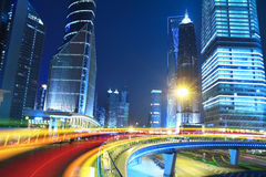 Opinião da noite da cidade de Shanghai bonita Imagem de Stock