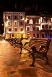 Opinião da noite da cidade européia velha Imagem de Stock