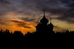 Opinião da noite da cidade Tver Fotos de Stock Royalty Free