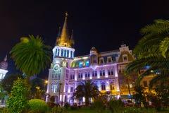 Opinião da noite de Batumi imagens de stock
