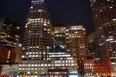 Opinião da noite de Boston Fotos de Stock