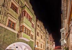 Opinião da noite de Bressanone imagens de stock royalty free