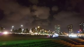 Opinião da noite de Colombo Galle Face Fotografia de Stock Royalty Free