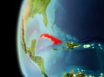 Opinião da noite de Cuba na terra Imagem de Stock