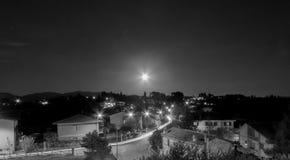 Opinião da noite de Forano Rieti Itália Imagem de Stock Royalty Free