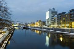 Opinião da noite de Gdansk. Imagens de Stock