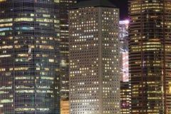 Opinião da noite de Hong Kong Fotografia de Stock Royalty Free