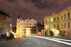 Opinião da noite de Kyiv Imagens de Stock Royalty Free