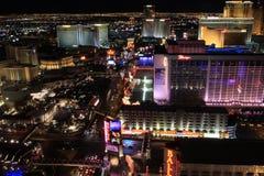 Opinião da noite de Las Vegas Foto de Stock Royalty Free