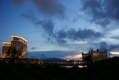 Opinião da noite de Macau Fotos de Stock Royalty Free