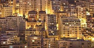 Opinião da noite de Monaco fotografia de stock royalty free