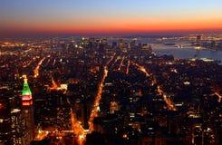 Opinião da noite de New York   Imagem de Stock