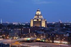 Opinião da noite de Philadelphfia Imagem de Stock Royalty Free