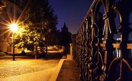 Opinião da noite de Praga Fotos de Stock