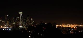 Opinião da noite de Seattle Imagem de Stock Royalty Free
