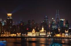 Opinião da noite de Shanghai China Imagens de Stock