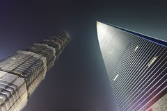 Opinião da noite de Shanghai China Fotografia de Stock