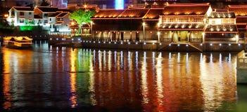 Opinião da noite de Suzhou Imagem de Stock