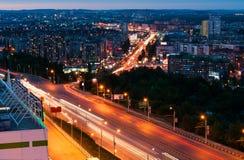 Opinião da noite de Ufa Foto de Stock