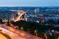 Opinião da noite de Ufa Foto de Stock Royalty Free