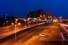 Opinião da noite de Ufa Fotografia de Stock Royalty Free