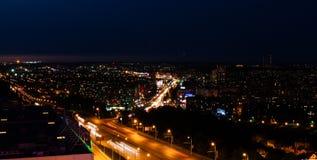 Opinião da noite de Ufa Fotos de Stock