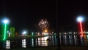opinião da noite de uma lagoa limpada do swere foto de stock royalty free