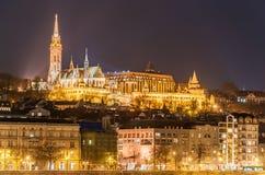 Opinião da noite do Budapest, Hungria Foto de Stock Royalty Free