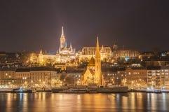 Opinião da noite do Budapest, Hungria Imagem de Stock Royalty Free