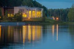 Opinião da noite do lago Foto de Stock